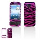 Hard Plastic Design Cover Case for Google G1 - Pink / Black Zebra Stripes