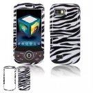 Hard Plastic Design Hard Case for Samsung Behold 2 T939 - Black/White Stripes