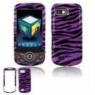 Hard Plastic Design Hard Case for Samsung Behold 2 T939 - Purple/Black Stripes
