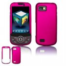 Hard Plastic Rubber Feel Faceplate Case Cover for Samsung Behold 2 T939 - Rose Pink