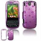 Hard Plastic Design Faceplate Case Cover for Palm Pixi - Purple Rain Drops