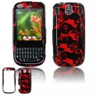 Hard Plastic Design Faceplate Case Cover for Palm Pixi - Red/Black