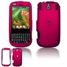 Hard Plastic Rubber Feel Faceplate Case Cover for Palm Pixi - Rose Pink
