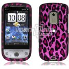 Pink Leopard Design Hard 2-Pc Snap On Faceplate Case for HTC Hero CDMA (Sprint)