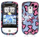 Blue/Pink Skulls Design Hard 2-Pc Snap On Faceplate Case for HTC Hero CDMA (Sprint)