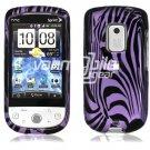 Purple Zebra Face Design Hard 2-Pc Snap On Faceplate Case for HTC Hero CDMA (Sprint)