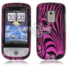 Pink Zebra Face Design 2-Pc Hard Case for HTC Hero CDMA (Sprint)