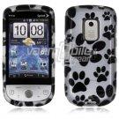 White/Black Pawprint Design Hard 2-Pc Snap On Faceplate Case for HTC Hero CDMA (Sprint)