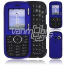 """Blue Hard """"Rubberized"""" 2-Pc Plastic Snap On Faceplate Case for LG Cosmos/LG Rumor 2 (Verizon/Sprint)"""