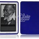 Blue Hard Rubber Gel Skin Case for Barnes & Noble's Nook e-Reader