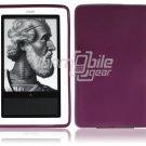Purple Hard Rubber Gel Skin Case for Barnes & Noble's Nook e-Reader