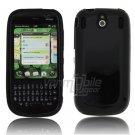 Black Solid Hard 1-Pc Rubber Skin Case for Palm Pixi/Pixi Plus