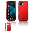 """Red Hard """"Rubber Feel"""" Case for Samsung Mythic A897 (AT&T)"""