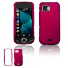 """Rose Pink Hard """"Rubber Feel"""" Case for Samsung Mythic A897 (AT&T)"""