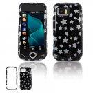 Black/Silver Stars Design Hard Case for Samsung Mythic A897