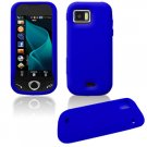 """Blue """"Full View"""" Soft Cover for Samsung Mythic A897 (AT&T)"""