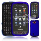 "Blue Hard ""Rubberize"" 2-Pc Snap On Plastic Faceplate Case for Samsung Reality U820 (Verizon)"