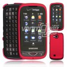 """Pink Hard """"Rubberize"""" 2-Pc Snap On Plastic Faceplate Case for Samsung Reality U820 (Verizon)"""