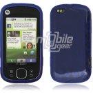 Blue Argyle Design 1-Pc Hard Rubber Skin Case for Motorola Cliq XT (T-Mobile)