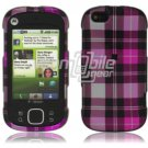 Pink Design Hard 2-Pc Snap On Faceplate Case for Motorola Cliq XT (T-Mobile)