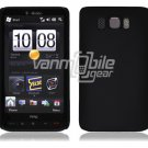 "Black Hard 1-Pc Rubberized ""Back/Rear"" Case for HTC HD2 (T-Mobile)"