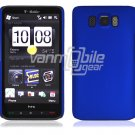 "Blue Hard 1-Pc Rubberized ""Back/Rear"" Case for HTC HD2 (T-Mobile)"