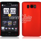 "Red Hard 1-Pc Rubberized ""Back/Rear"" Case for HTC HD2 (T-Mobile)"