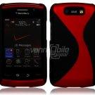 "Black/Red Hard ""Robotic"" 2-Pc Case for BlackBerry Storm 2 9550"