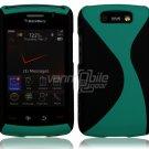 "Black/Turquoise Hard ""Robotic"" 2-Pc Case for BlackBerry Storm 2 9550"
