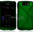 "Green Hard ""Robotic"" 2-Pc Case for BlackBerry Storm 2 9550"