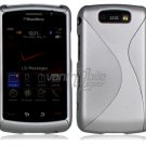 "Silver Hard ""Robotic"" 2-Pc Case for BlackBerry Storm 2 9550"