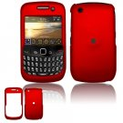 "Red Hard ""Rubber Feel"" Case for BlackBerry Curve 8520 (T-Mobile)"