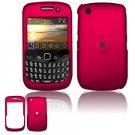 "Rose Pink Hard ""Rubber Feel"" Case for BlackBerry Curve 8520 (T-Mobile)"