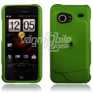"""Green Hard 2-Pc """"Rubberize"""" Snap On Faceplate Case for HTC Droid Incredible"""