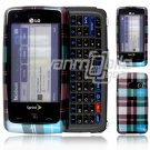 Blue Design Hard 2-Pc Snap On Faceplate Case for LG Rumor Touch (Sprint)