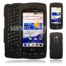 Black Hard 2-Pc Case for LG Ally (Verizon Wireless)