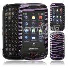 Purple/Black Zebra Stripes Hard 2-Pc Case for Samsung Reality U820 (Verizon Wireless)