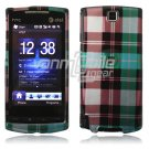 Blue Plaid Design Hard 2-Pc Faceplate Case for HTC Pure (AT&T)