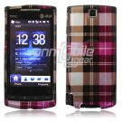 Pink Plaid Design Hard 2-Pc Faceplate Case for HTC Pure (AT&T)