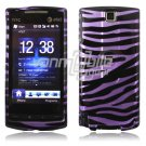 Purple/Black Stripes Design Hard 2-Pc Faceplate Case for HTC Pure (AT&T)