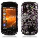 Silver/Black Skulls Design Hard Case for Samsung Omnia 2 i920 (Verizon Wireless)