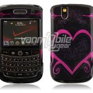 Pink Heart Design Hard Case for BlackBerry Tour 9600/9630