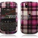 Pink Plaid Design Hard Case for BlackBerry Tour 9600/9630