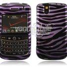 Light Purple/Black Zebra Design Hard Case for BlackBerry Tour 9600/9630