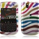 Colorful Zebra Stripes Design Hard Case for BlackBerry Tour 9600/9630