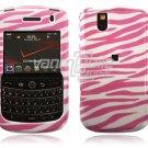 White/Pink Zebra Stripes Design Hard Case for BlackBerry Tour 9600/9630
