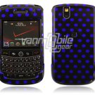 Black/Blue Polka Dots Design Hard Case for BlackBerry Tour 9600/9630