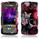 Pink/Black Design Hard Case for LG Chocolate Touch VX8575