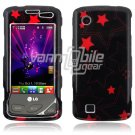 Black/Pink Stars Design Hard Case for LG Chocolate Touch VX8575