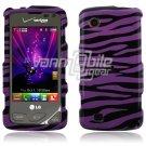 Purple/Black Zebra Design Hard Case for LG Chocolate Touch VX8575